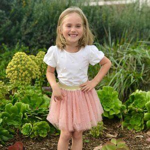 Doe a Dear Girls T-shirt Ballerina Skirt Outfit